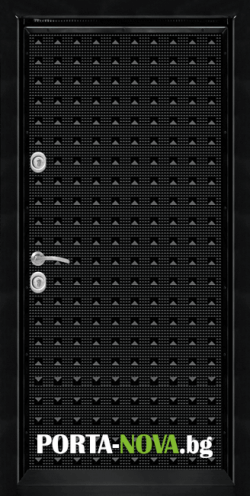 Блиндирана врата Т-777 Черен Гланц