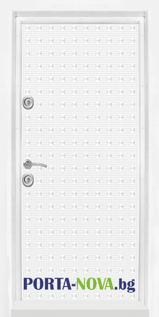 Блиндирана врата модел Т777 Бял Гланц