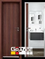 Алуминиева врата за баня Gradde, цвят Шведски Дъб
