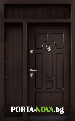 Еднокрила входна врата Т-108, цвят Тъмен орех