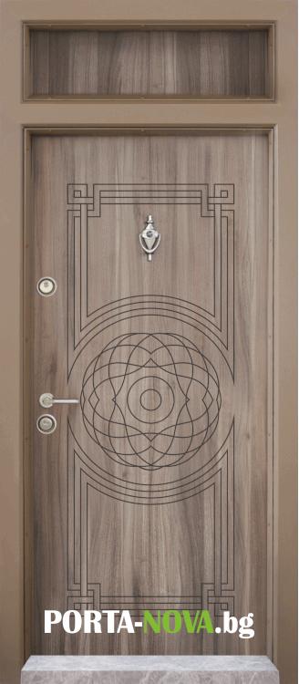 Еднокрила входна врата Т-110, цвят Спарта