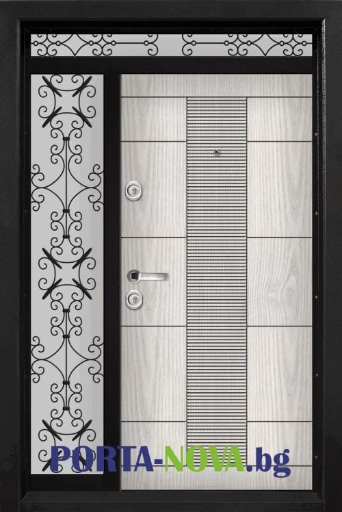 Еднокрила входна врата Т-901, цвят Арктика